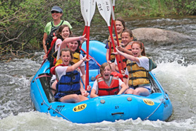 Rafters on Taylor River with Three Rivers Resort and Outfitters in Gunnison, Colorado