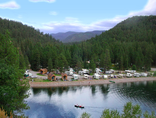 5 branches camper park cabins durango south west for Camping and fishing in colorado