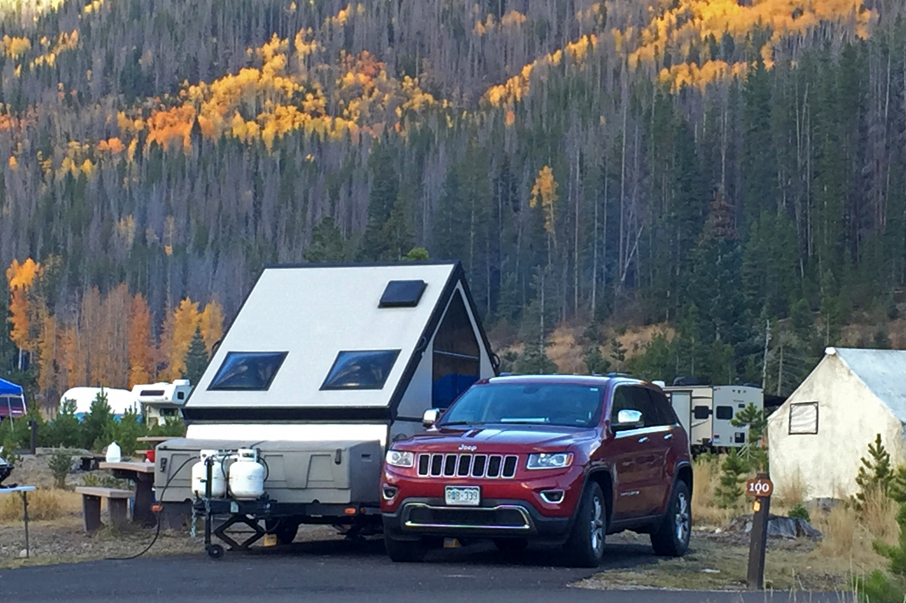 A pop up trailer from Adventure Camper Rentals in Southeast Metro Denver, Colorado