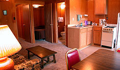 interior of a room at Alpine Lodge, Dinner Restaurant & Cabins, Colorado Vacation Director