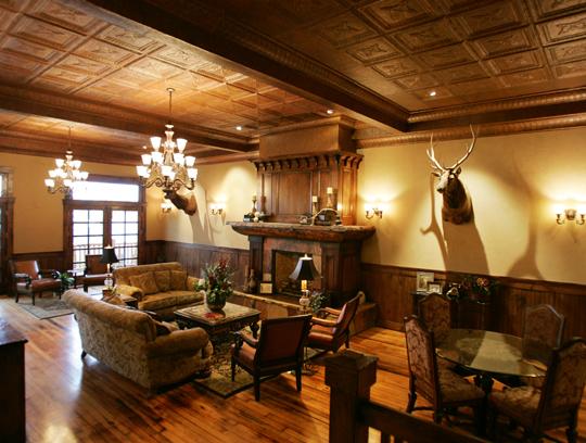 The Interior Of Antlers Inn River Rock Café In Walden Colorado