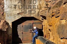 A tunnel entrance of Argo Gold Mill. Explore a treasure trove of Colorado heritage at the Argo Gold Mill Museum in Denver Mountain Area, Colorado.