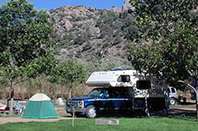 Camp site at Arkansas River KOA & Loma Linda Motel, The Colorado Vacation Directory