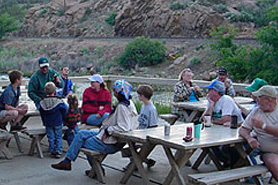 A large picnic area atArkansas River KOA & Loma Linda Motel, The Colorado Vacation Directory