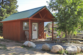 Cabin at Arrowhead Point Campground Cabins and RV Park in Buena Vista Colorado