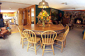 Dining room at Avalanche Ranch Cabins and Hot Springs, The Colorado Vacation Directory