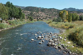 Walk to the Arkansas River from Banderas Bunkhouse,  near Salida and Royal Gorge, Colorado