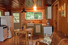 Fully equipped kitchen at Bear Paw Cabin and Double K Ranch in Estes Park Colorado