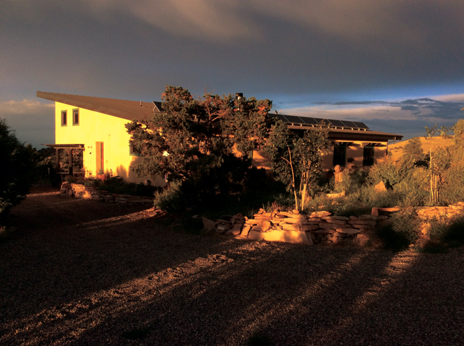 The Belmont del Norte Vacation Home at dusk near the Great Sand Dunes National Park