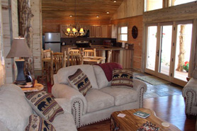 Interior of cabin at Cabins at Hartland Ranch in the Pagosa Springs Area