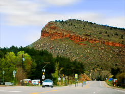 Mountain View from Lyons, Colorado