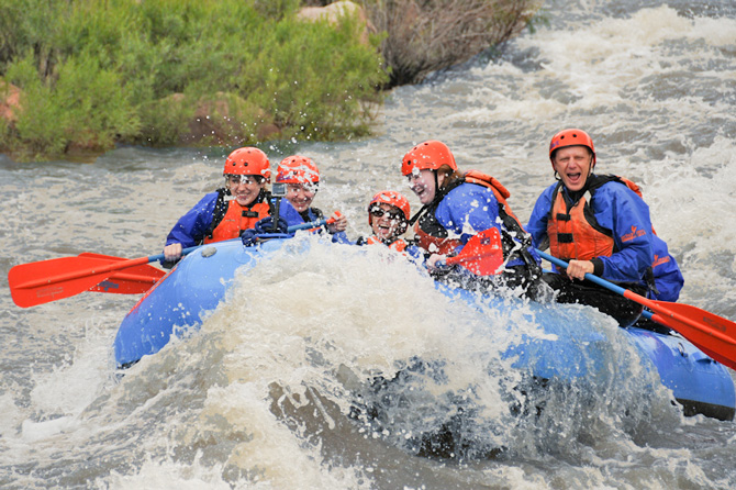 White water rafting the Arkansas River in the Royal Gorge near Canon City, Colorado