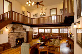 Beautiful interior of the Lodge at the Colorado Chautauqua in Boulder, Colorado