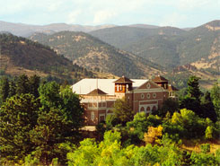 The Colorado Chautauqua, with the Flat Irons in the background, The Colorado Vacation Directory