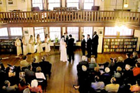 The Colorado Chautauqua makes for a venue for a wedding