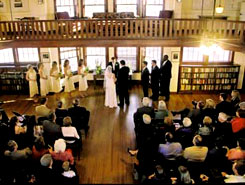 A wedding being held at Colorado Chautauqua, The Colorado Vacation Directory