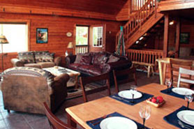 The interior of a Colorado Mountain Cabin and Vacation home in the Pikes Peak area, Colorado