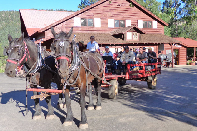 A hayride at Colorado Trails Ranch located in Durango, Colorado