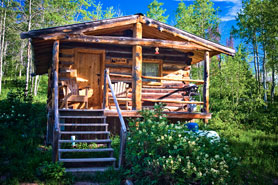 The Burton Cabin is a Historic Columbine Cabin, The Colorado Vacation Directory