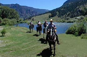Horseback riding at Cottonwood Cove Guest Ranch in Creede Colorado