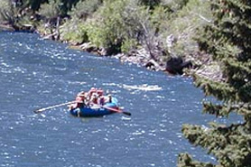 Rafting on river with Cottonwood Cove Guest Ranch in Creede Colorado