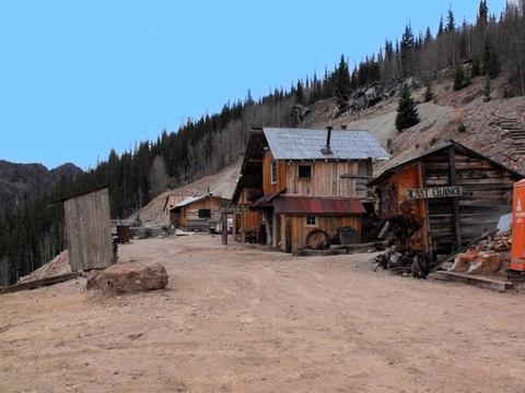 1891 Silver Camp at Last Chance Mine in Creede, Colorado