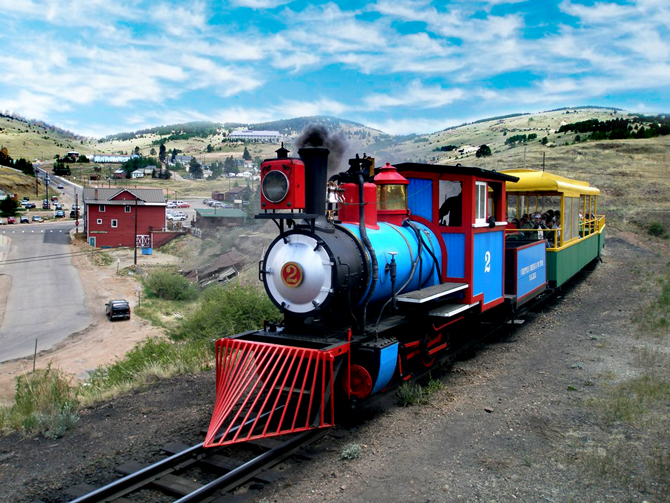 The Cripple Creek & Victor Narrow Gauge Railroad train ride.