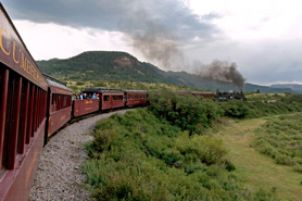 The Cumbres & Toltec Scenic Railroad going around a Bend, The Colorado Vacation Directory