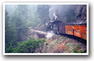 Durango Silverton narrow gauge railroad, Colorado