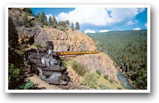 Durango Silverton narrow guage railroad, Colorado, The CVD