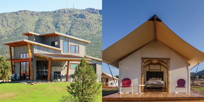 Beautiful Modern Cabins and Glamping Tents in Royal Gorge Area near Colorado Springs, Colorado