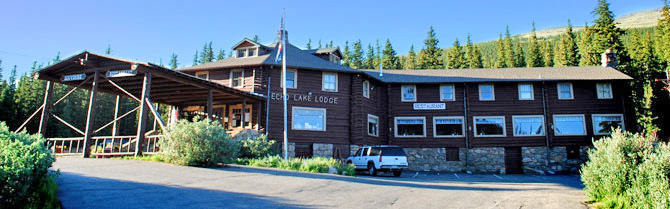 Exterior of Echo Lake Lodge in the Denver Mountain Area, Colorado. A must stop when visiting Mount Evans. A restaurant overlooking echo lake. Classic American comfort food. Gift shop. Built in 1926.