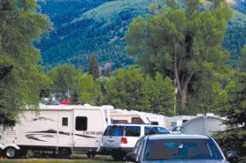 Oversized RV Spaces at Elkhorn RV Resort and Cabins in Lake City Colorado