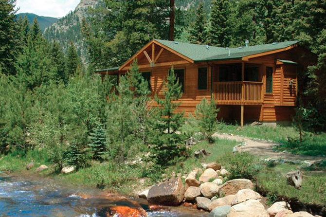 The Evergreens on Fall River Cabin in Estes Park, Colorado is close to the river