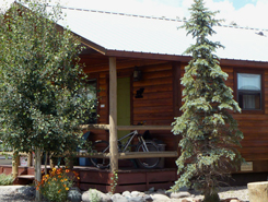 Fireside Cabins sunrounded by snow in pagosa springs, Colorado, The Colorado Vacation Directory