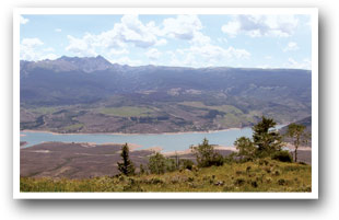 View of Green Mountain Reservoir near Heeney, Kremmling and Parshall, Colorado