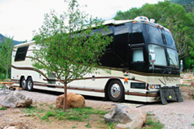 RV at the Glenwood Canyon Resort in Colorado
