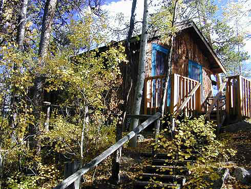 Mountain Cabin and Deck at Grand Escape Cottages in Grand Lake Colorado