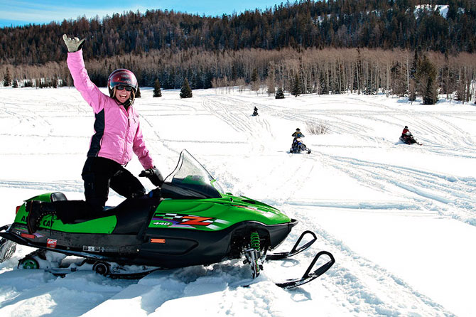 Snowmobiling with Grand Adventures in the Winter Park, Colorado area