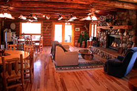 High Canyon Adventures Lodge and fireplace, The Colorado Vacation Directory