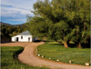 Road to cozy cottage at Hillside Cottages in Westcliffe, Colorado