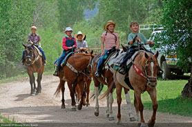 Horseback riding on the Drowsy Water Trail, Arapahoe National Forest near Hot Sulphur Springs, Colorado
