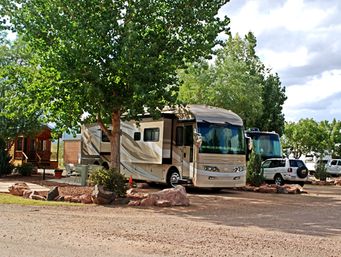 RV's at the KOA in Colorado Springs, Colorado