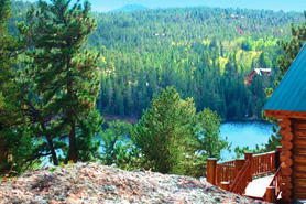 Lone Pine Realty Vacation Rentals with breathtaking View of Crystal Lake Colorado