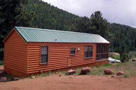 A cabin at Lost Burro Camping & Lodging in Cripple Creek, Colorado