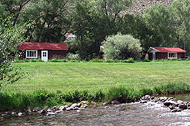 Cabins on the Gunnison River at Lost Canyon Resort in Gunnison Colorado