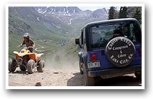 Jeep and ATV on the Alpine Loop Scenic Byway, Colorado