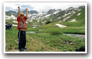 Boy in the Beautiful American Basin, Colorado