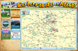 Colorado State Map With Mileage Time Table Co Vacation Directory