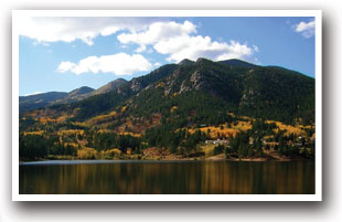 A calm Lake San Isabel in the fall in Colorado